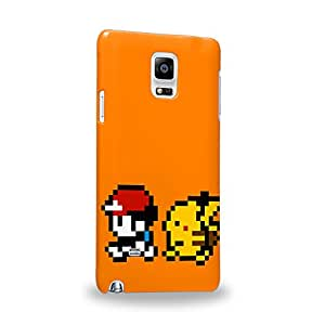 Case88 Premium Designs Pokemon Pokemon gameplay gameboy Protective Snap-on Hard Back Case Cover for Samsung Galaxy Note 4