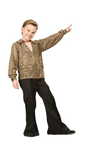 RG Costumes 90170-S Disco Boy Costume - Gold - Size Child Small 4-6