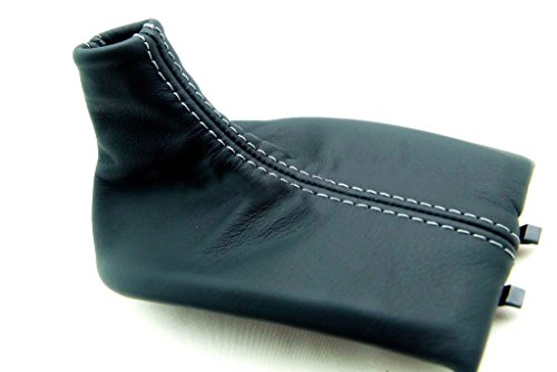 911 Porsche Shift (Autoguru Porsche Boxster, 911, 996, 986 97-04 Manual Shift Boot Synthetic Leather Black, Gray Stitch)