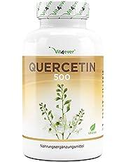 Quercetine, 500 mg, 120 capsules, voorraad voor 4 maanden, getest in laboratorium, natuurlijk uit Japanse honingboombloesem, hoge dosis, veganistisch, premium kwaliteit