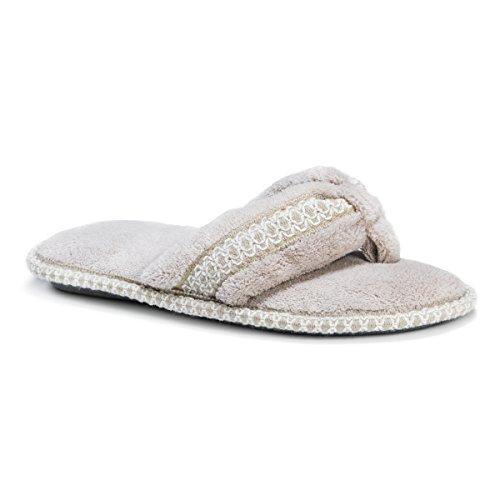Chenille Women's Slippers MUK Thong Darlene Micro LUKS Beige v5STSI