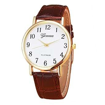 DressLksnf_Reloj Moda para Mujer Durable Brazalete de Reloj Bonito Cadena de Cuero Superficie Popular Pulsera del Reloj Metal Bonita: Amazon.es: Ropa y ...