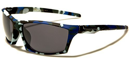 X-Loop Sonnenbrille Sport Herren Damen Blau Camouflage getönte Gläser doTUGk3hEA