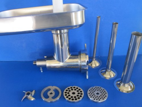 (Meat Grinder Kit Hobart 4212 4412 4812 84185 Stainless Steel Complete Attachment)