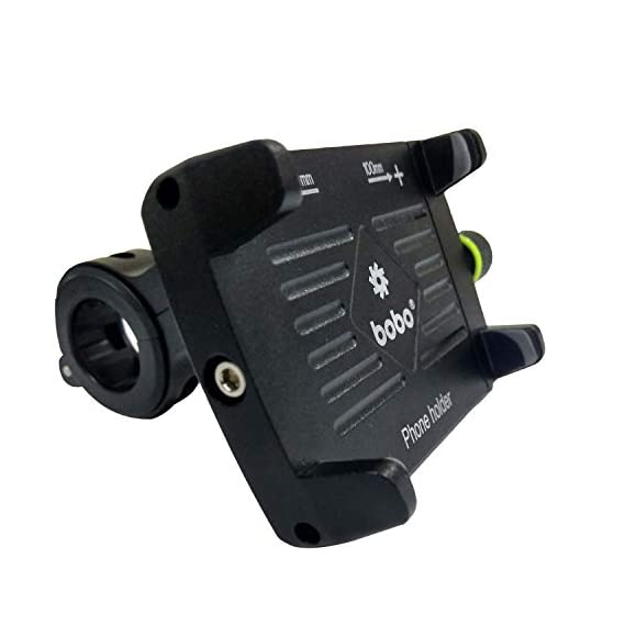 BOBO Claw-Grip Aluminium Waterproof Bike/Motorcycle/Scooter Mobile Phone Holder Mount, Ideal for Maps and GPS Navigation