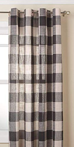 LORRAINE HOME FASHIONS Courtyard Grommet Window Curtain Panel, Gray, 53