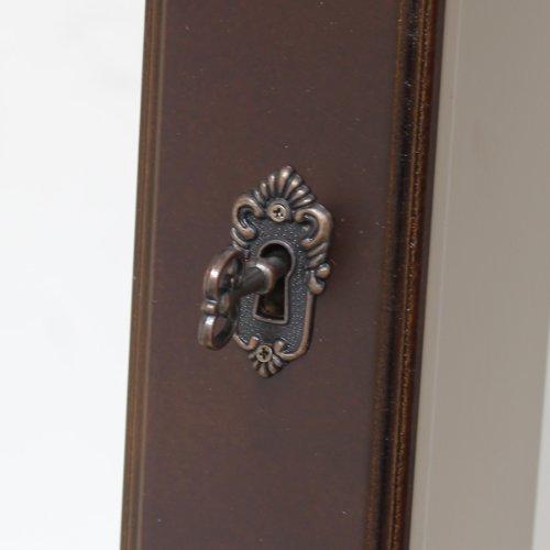 Hartleys - Standspiegel & Schmuckschrank für das Schlafzimmer in einem - Braun -