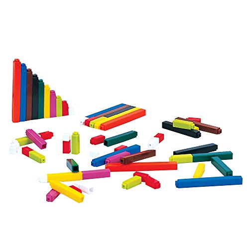 Connecting Cuisenaire Rods - ETA hand2mind Plastic Connecting Cuisenaire Rods Small Group Set