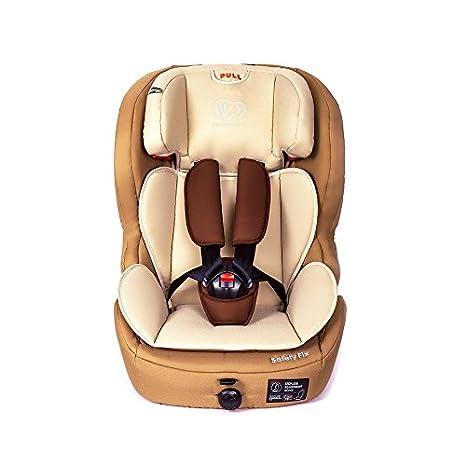 Kinderkraft Safetyfix Kinderautositz mit Isofix 9-36 kg Gruppe 1 2 3 Beige 5902021215256