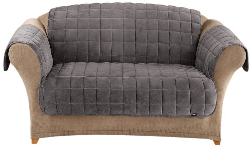 SureFit  Deluxe Sofa Furniture Cover with arms, Dark ()