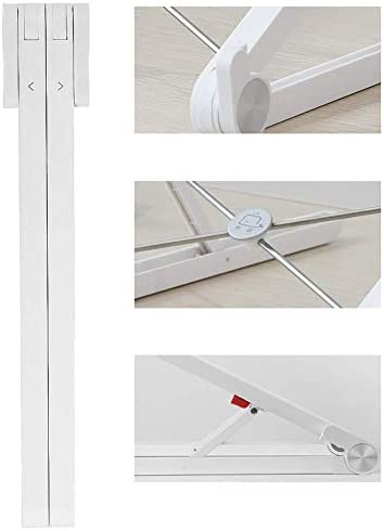 Verstelbare Draagbare Laptop Stand Desktop Hoge Ergonomische Opslagruimte Monitor Stand Riser voor Laptop Riser Wit 29x23cm (11x9inch)