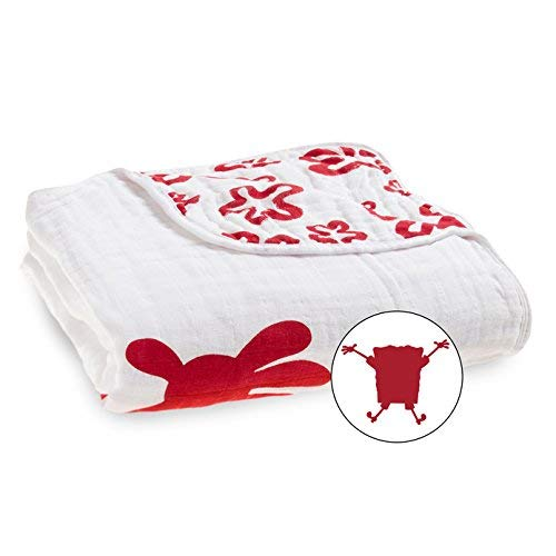 aden + anais Classic Dream Blanket, (RED) Spongebob Squarepants