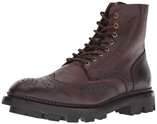 FRYE Men's Tanker LACE UP Fashion Boot, Cognac, 10 M M US
