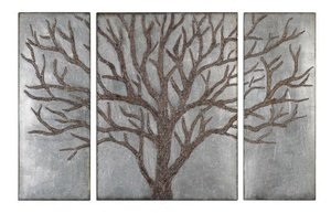 Uttermost 13793 Winter View Rustic Tree Mirror (Set of 3) from Uttermost