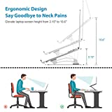 Nulaxy Laptop Stand, Ergonomic Height Angle