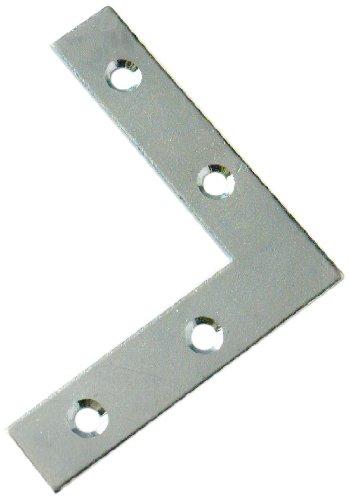 Bulk Hardware BH00054 Flat Corner Repair Brackets Braces Plates BZP, 50 mm (2 inch) - Pack of 15