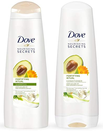 (Dove Nourishing Rituals Haircare - Fortifying Ritual - Shampoo & Conditioner Set - Net Wt. 12 FL OZ (355 mL) Per Bottle - One Set)