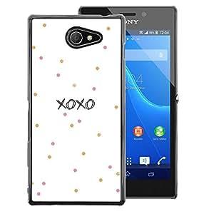 Red-Dwarf Colour Printing Xoxo Love Kisses Sweetheart White - cáscara Funda Case Caso de plástico para Sony Xperia M2