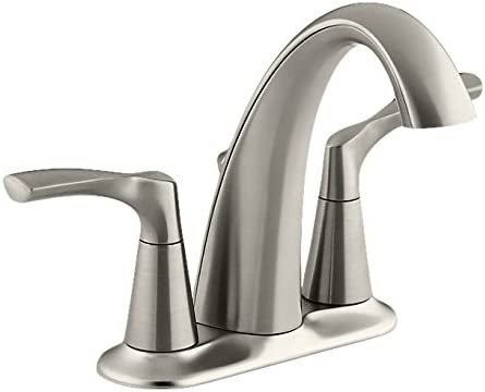 Kohler K-R37024-4D-BN Mistos Centerset Bathroom Sink Faucet, Vibrant Brushed Nickel