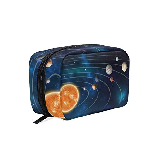 (Solar System Planetary Trajectory Travel Makeup Bags Cosmetic Storage Pouch Case)