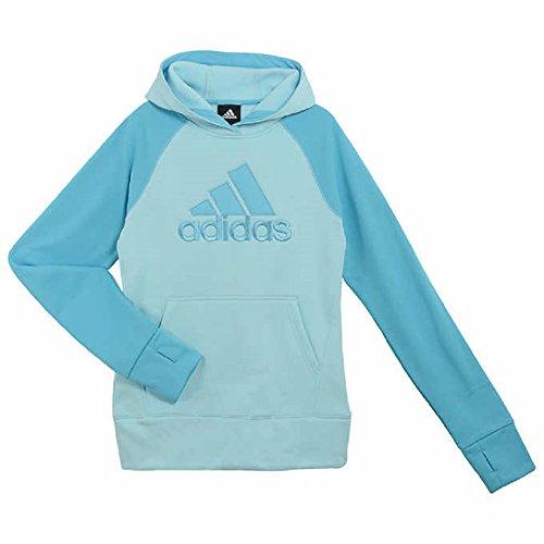 [Adidas Girls Tech Fleece Pullover Hoodie Sweatshirt] (Adidas Pullover Hooded Sweatshirt)