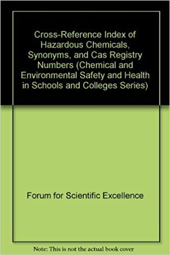 Cross-Reference Index of Hazardous Chemicals, Synonyms, and Cas