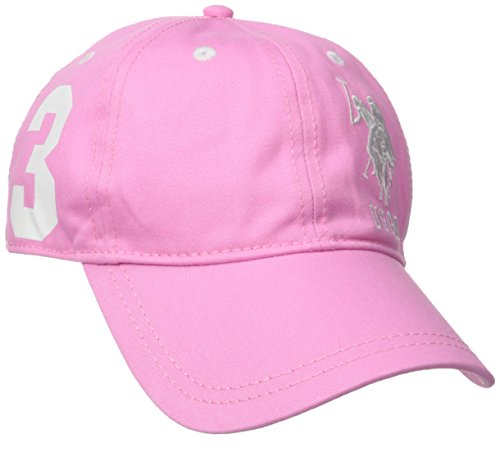 Cap Baseball One Pink (U.S. Polo Assn. Women's Number Three Baseball Hat, Pink, One Size)