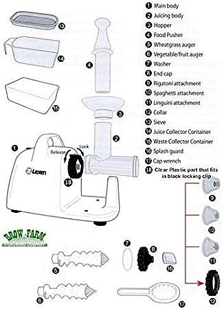 1.Handle Spare Parts for Lexen Manual Wheatgrass Juicer GP27