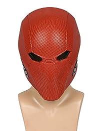 XCOSER Red Hood Helmet Mask Cosplay Costume Accessories for Halloween Resin