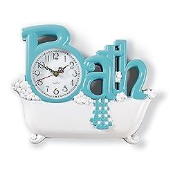 Bathroom Wall Clock, Blue