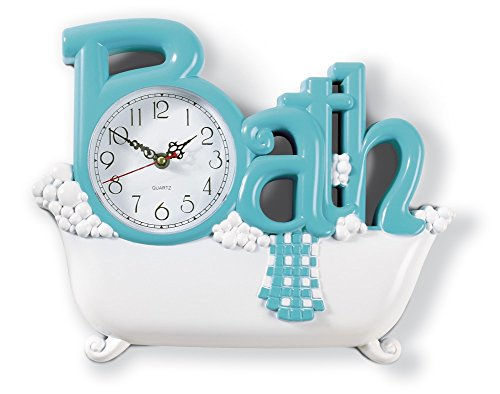 Collections Etc Bathroom Wall Clock