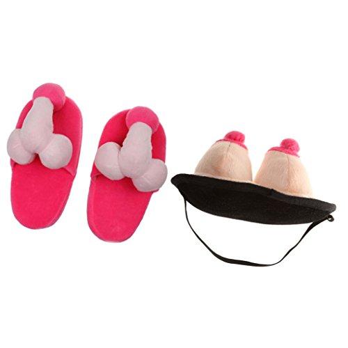 Magideal Unisexe En Chausson Masques Soirée Chaussures Décor Accessoires Peluche Vintage rzrFwvq