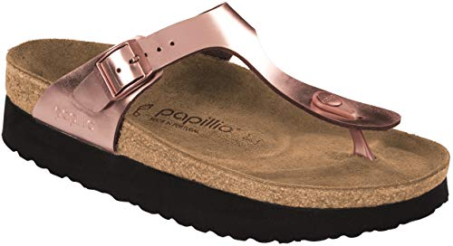 - Birkenstock Papillio Women's Gizeh Platform Sandal, Copper Leather, 39 M EU