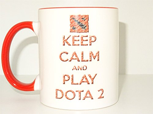 keep calm and play dota 2 Mug, Coffee Cup Funny Mug tea Birt