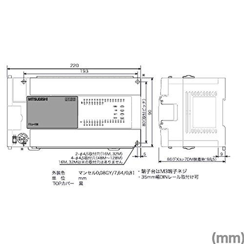 MITSUBISHI ELECTRIC FX3U-64MT/DS FX3U Main Units (AC Power supply and DC inputs) NN