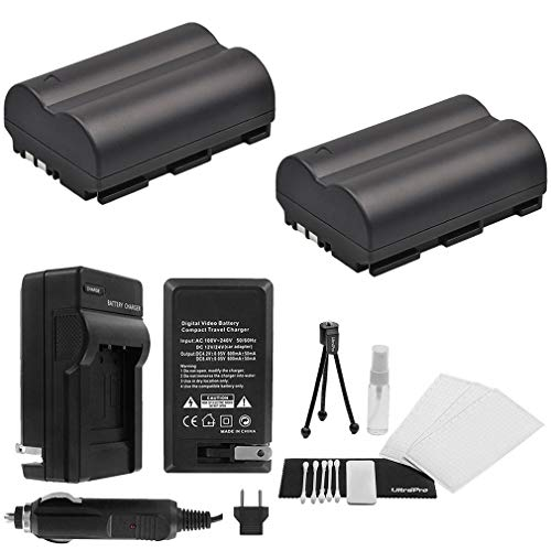 UltraPro Canon BP-511/BP-511a/BP-512 High-Capacity Replacement Batteries with Rapid Travel Charger for Canon Digital Cameras ()