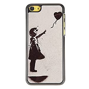 GJY Let the Heart Fly Pattern PC Hard Case with 3 Packed HD Screen Protectors for iPhone 5C