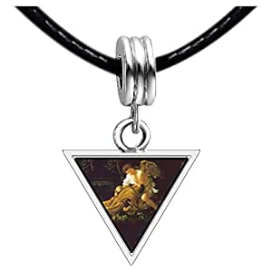 Chicforest Silver Plated Caravaggio's Stigma Photo Triangle Charm Beads Bracelets European Bracelets Compatible