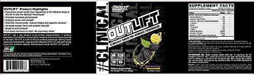 Nutrex Outlift Pre Workout Blackberry Lemonade 20 Serving,17.8 Oz(506g)