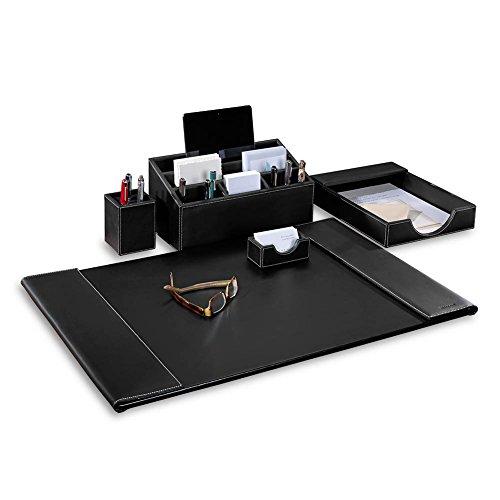 Levenger Morgan Desk Set (Five pieces) Black by Levenger