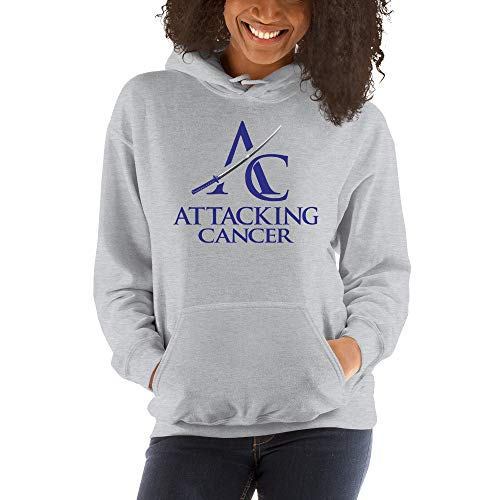 Attacking Cancer Hooded Sweatshirt (Colon Cancer) Sport Grey