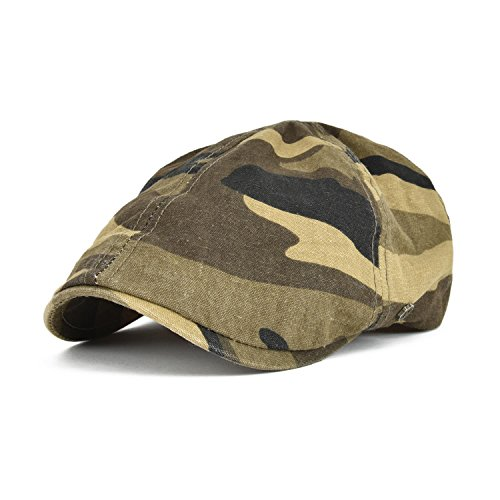 VOBOOM Cotton Flat Cap Cabbie Hat Gatsby IVY Cap Irish Hunting Hat newsboy (Camouflage)