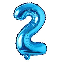 """16"""" inch Single Blue Alphabet Letter Number Balloons Aluminum Hanging Foil Film Balloon Wedding Birthday Party Decoration Banner Air Mylar Balloons"""