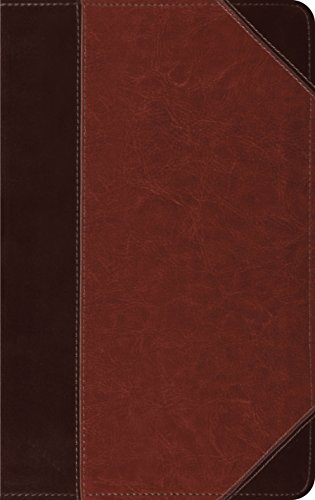 ESV Thinline Bible, TruTone, Brown/Cordovan, Portfolio Design,  Red Letter Text