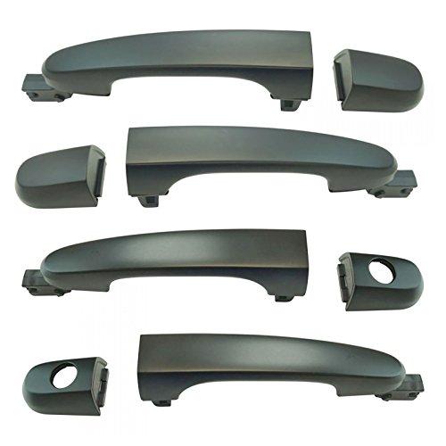Exterior Door Handle 4 Piece Kit LH RH Front & Rear Finish for Kia Sportage ()