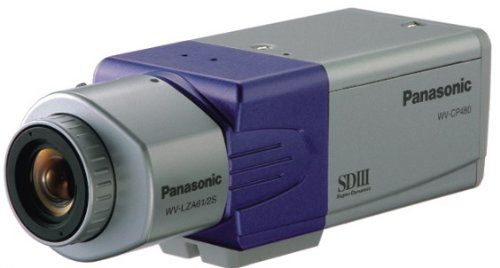 Panasonic Cctv (Panasonic CCTV Camera wv-cp480/g Super Dynamic III Day-Night Camera with ABF for 24 hours a Day Surveillance)