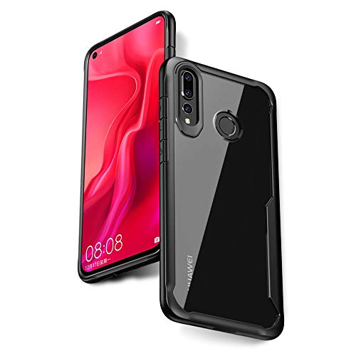 sports shoes 1d637 2ef21 Olixar Bumper Case Compatible with Huawei Nova 4 - Hard Tough Cover - Shock  Protection - Slim Clear Design - Wireless Charging Compatible - NovaShield  ...