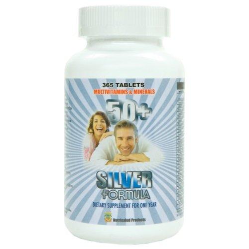 Silver Formula. Multivitaminas para mayores de 50 anos. 365 tabletas para todo 1 año. Para un corazon saludable, salud mental, para la vision y energia fisica. by Nutrisalud Products