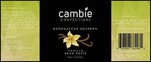 Cambie Confections Madagascar Bourbon Vanilla Bean Paste, 16 oz by Cambie Confections (Image #2)