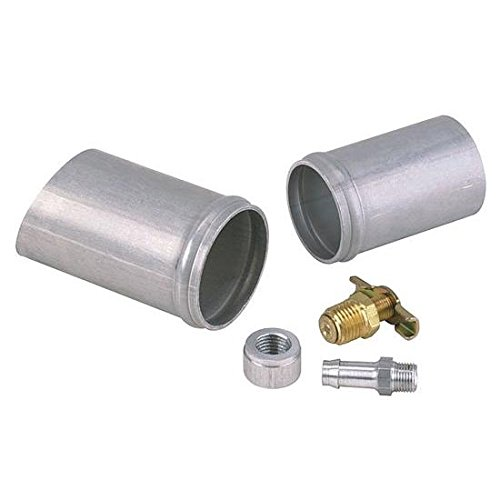 Aluminum Radiator Weld-On Inlet/Outlet Neck Kit w/Petcock